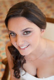 Portrait of a young smiling bride Stock Photos