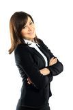 Portrait of young smiling business woman Stock Image
