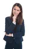 Portrait of a young smiling business woman isolated on white Royalty Free Stock Photos