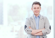Portrait of young smiling businessman Stock Image