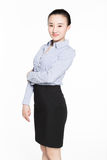 Portrait of a young smiling businesswoman Royalty Free Stock Photo