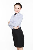 Portrait of a young smiling businesswoman Royalty Free Stock Photos