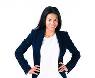 Portrait of a young smiling businesswoman Royalty Free Stock Images
