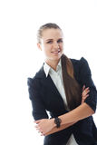 Portrait of young smiling businesswoman Stock Image