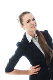 Portrait of young smiling businesswoman Stock Photos