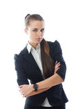 Portrait of young smiling businesswoman Stock Photography