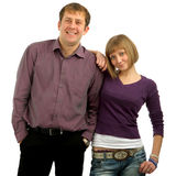 Portrait of young  smiling couple Stock Photos
