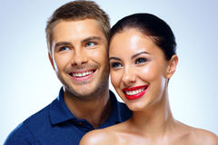 Portrait of a young smiling couple Royalty Free Stock Images