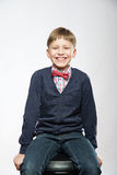 Portrait of young smiling cute boy laughing Stock Photography