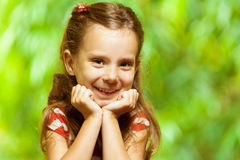 Portrait of young, smiling girl Royalty Free Stock Photography