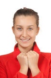 Portrait of a young smiling girl Stock Photography