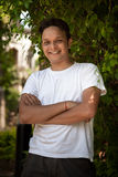 Portrait of young smiling indian man Stock Photography