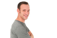 Portrait of a young smiling man Royalty Free Stock Photography