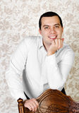 Portrait of young smiling man Royalty Free Stock Photography