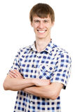 Portrait of young smiling man Royalty Free Stock Photo
