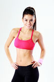 Portrait of a young smiling sport woman Stock Photography