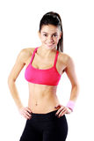Portrait of a young smiling sport woman Royalty Free Stock Photos