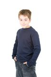 Portrait of young smiling standing boy Stock Photo