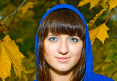 Portrait of young smiling woman Stock Photo