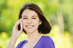 Portrait of young smiling woman Royalty Free Stock Image