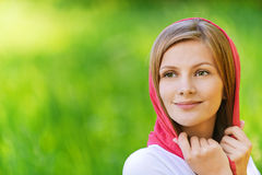 Portrait of young smiling woman Stock Photography