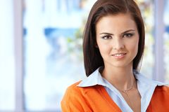 Portrait of young smiling woman Stock Photos