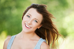 Portrait of young smiling woman Royalty Free Stock Photo