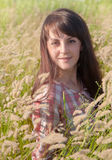 Portrait of a young smiling woman. Outdoors Royalty Free Stock Photos
