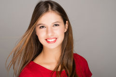 Portrait of a young smiling woman Royalty Free Stock Images