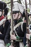 Portrait of a young soldier of the napoleonic troops Royalty Free Stock Photo