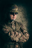 Portrait of young soldier Royalty Free Stock Photography