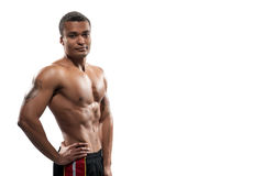 Portrait of young sportsman posing Stock Photography