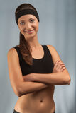 Portrait of a young sporty girl Stock Photography
