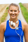 Portrait of a young sporty woman Royalty Free Stock Image