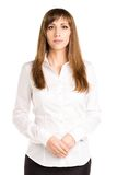 Portrait of young standing business woman Stock Image