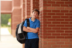 Portrait of a young student Stock Photos