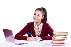 Portrait of young student girl Royalty Free Stock Images