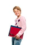 Portrait of young student holding notebooks Royalty Free Stock Photos