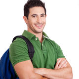 Portrait of a Young student smiling Royalty Free Stock Photo