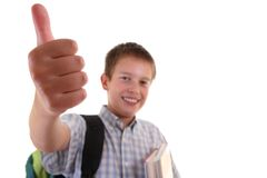 Portrait of a young student smiling royalty free stock image