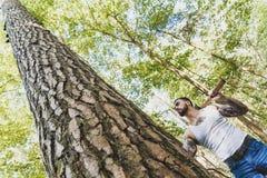 Portrait of young stylish lumberjack Stock Photography