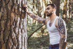 Portrait of young stylish lumberjack Royalty Free Stock Photos