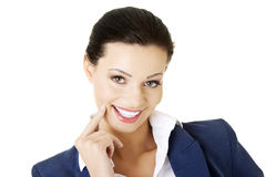Portrait of young success businesswoman Stock Images