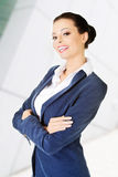 Portrait of young success businesswoman Royalty Free Stock Images