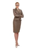 Portrait of a young successful business woman. Full length portrait of a young successful business woman Stock Photo