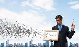 Business inspiration of young man stock photography