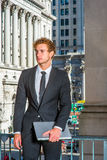 Portrait of Young Successful Businessman Royalty Free Stock Photos
