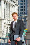 Portrait of Young Successful Businessman Stock Image