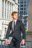 Portrait of Young Successful Businessman Stock Photo