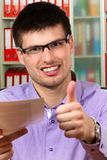 Portrait of young successful businessman Stock Images